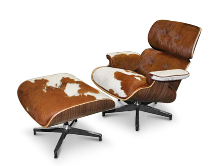 Charles Eames Lounge Chair With Ottoman In Pony Skin